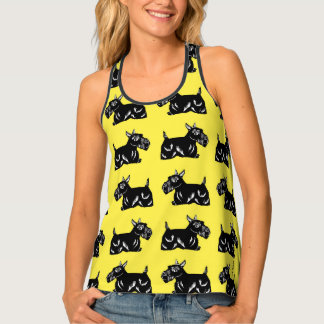Scottie Dogs Women's Yellow All-Over Print Tank