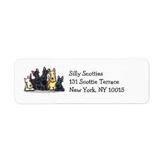 Scottie Five Return Address Label
