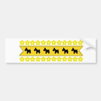 Scotties with Stars Bumper Sticker