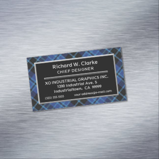 Scottish Accent Clergy Tartan Magnetic Business Cards