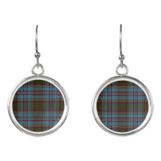 Scottish Clan Anderson Tartan Plaid Earrings