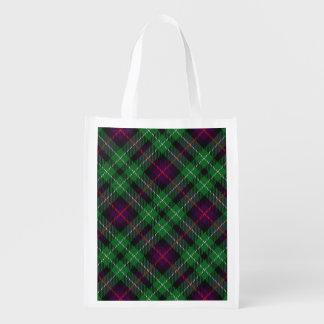Scottish Clan Cunningham Family Tartan Reusable Grocery Bag