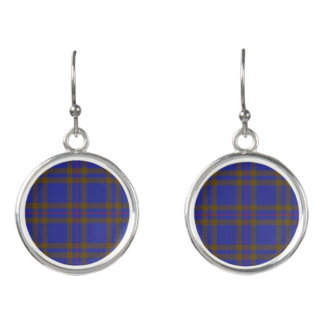 Scottish Clan Elliot Elliott Tartan Plaid Earrings