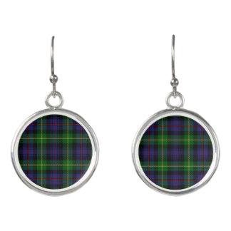 Scottish Clan Farquharson Tartan Plaid Earrings