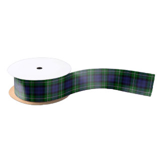 Scottish Clan Forbes Classic Tartan Satin Ribbon