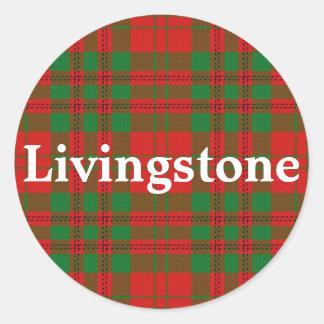 Scottish Clan Livingstone Tartan Plaid Classic Round Sticker