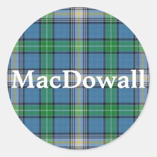 Scottish Clan MacDowall Tartan Plaid Classic Round Sticker