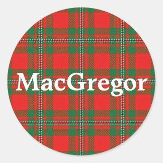 Scottish Clan MacGregor Gregor Tartan Plaid Classic Round Sticker