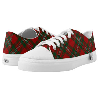 Scottish Clan MacGregor Gregor Tartan Printed Shoes