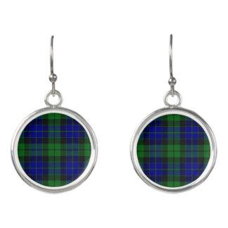 Scottish Clan MacKay Tartan Plaid Earrings