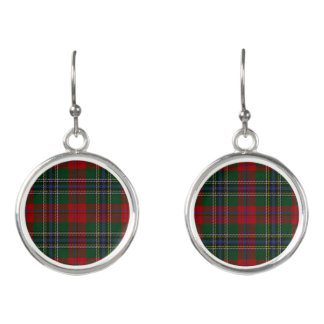 Scottish Clan MacLean Tartan Plaid Earrings