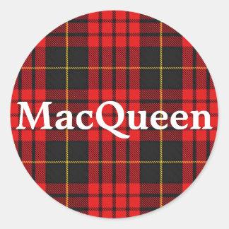 Scottish Clan MacQueen Tartan Plaid Classic Round Sticker