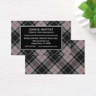 Scottish Clan Moffat Tartan Plaid Business Card