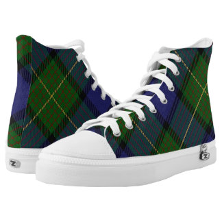 Scottish Clan Muir Tartan Printed Shoes