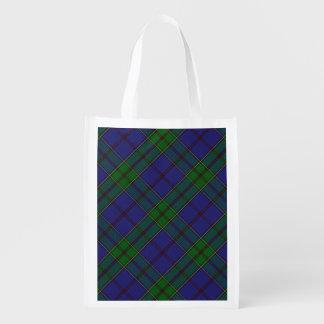 Scottish Clan Strachan Family Tartan Reusable Grocery Bag