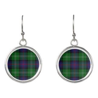 Scottish Clan Sutherland Tartan Plaid Earrings