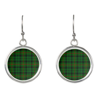 Scottish Clan Urquhart Tartan Plaid Earrings