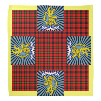 Scottish Clan Wallace Rampant Lion Symbol Bandana