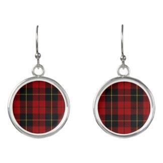 Scottish Clan Wallace Tartan Plaid Earrings