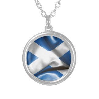 Scottish Flag Round Necklace