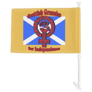 Scottish Grans for Independence Car Flag
