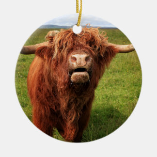 Scottish Highland Cattle - Scotland Christmas Ornament