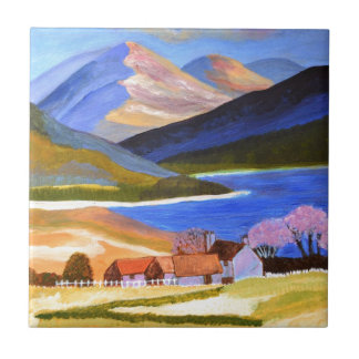 Scottish Highlands 2 Small Square Tile