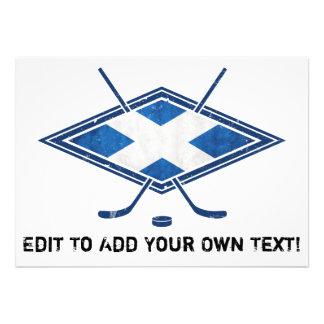 Scottish Ice Hockey Flag Custom Announcements