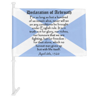 Scottish Independence Declaration of Arbroath Flag Car Flag