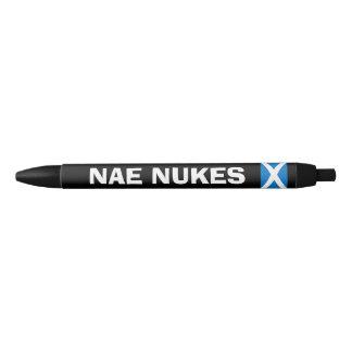 Scottish Independence No Nukes Saltire Flag Pen