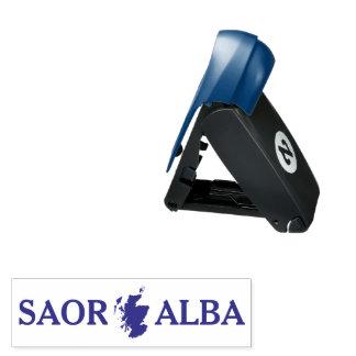 Scottish Independence Saor Alba Map Pocket Stamp