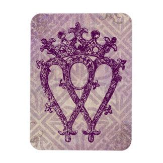 Scottish Luckenbooth Purple Celtic Knot Magnet