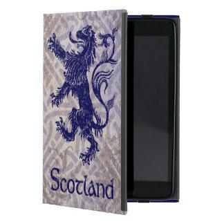 Scottish Rampant Lion Navy Blue Celtic Knot Case For iPad Mini