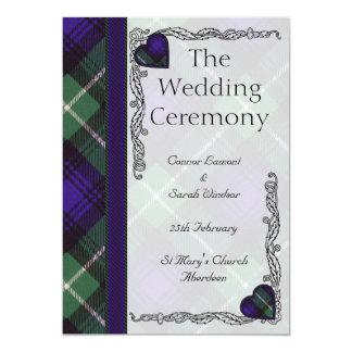 Scottish Tartan Wedding program - Lamont