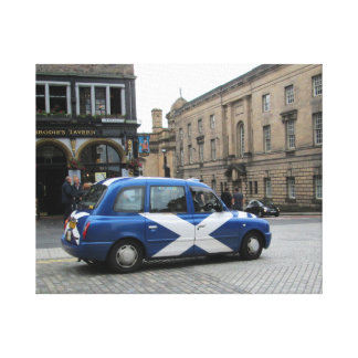 Scottish Taxi Gallery Wrap Canvas