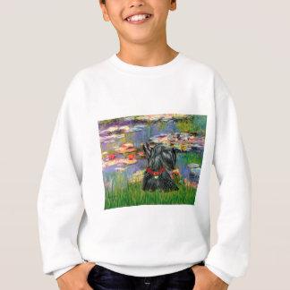 Scottish Terrier 12 - Lilies 2 Sweatshirt