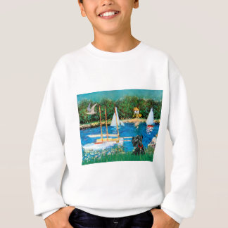 Scottish Terrier 12 - Sailboats Sweatshirt