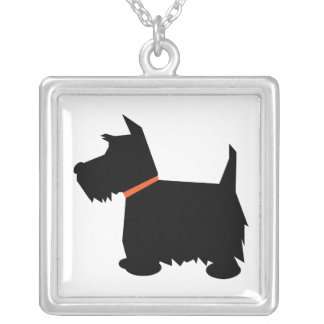 Scottish Terrier dog silhouette pendant, necklace