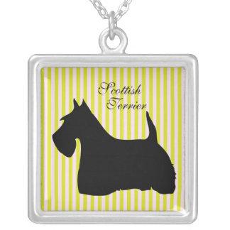 Scottish Terrier dog silhouette pendant, necklace