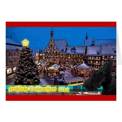Scottish Terrier hund Weihnachtskarte Cards