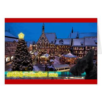 Scottish Terrier hund Weihnachtskarte Greeting Card