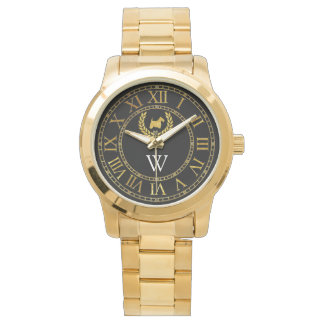 Scottish Terrier in Gold Personalize Watch