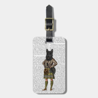 Scottish Terrier in Kilt Luggage Tag