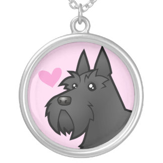Scottish Terrier Love Silver Plated Necklace