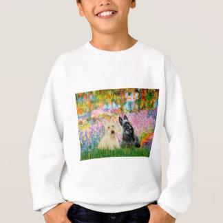 Scottish Terrier (two BW) - Garden Sweatshirt