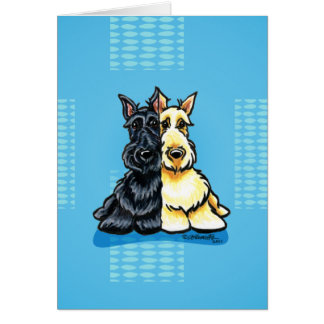 Scottish Terriers Two of a Kind Greeting Card
