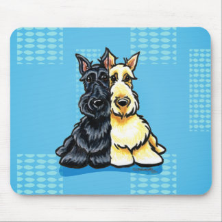 Scottish Terriers Two of a Kind Mouse Pad