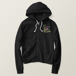 Scottish Thistle Embroidered Hoodie
