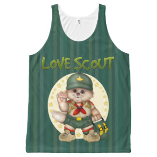 SCOUT CAT AllOver Printed Unisex Tank 2