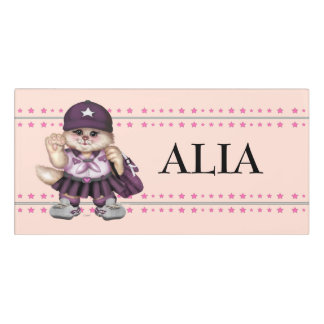 SCOUT CAT GIRL CARTOON   Classic Room Sign 2